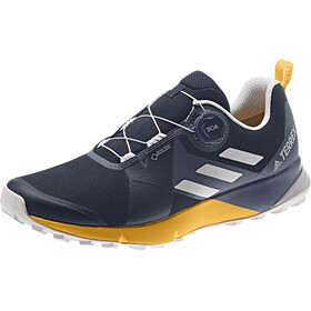 adidas TERREX Two Boa GTX Scarpe Uomo, collegiate navy/grey one/active gold